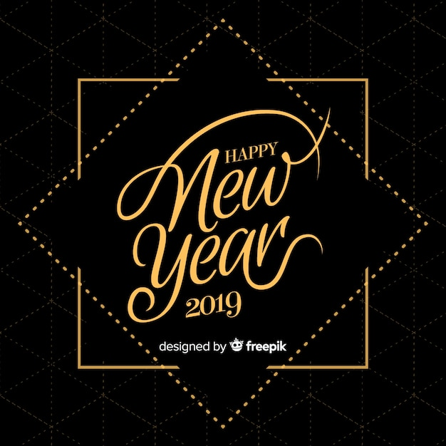 Hand drawn new year 2019 background Free Vector