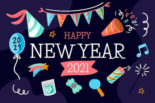 Premium Vector   Hand drawn new year 2021