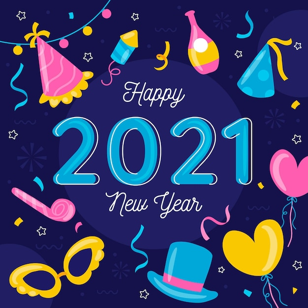 Hand drawn new year 2021 Free Vector
