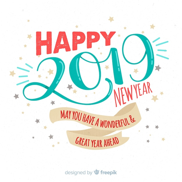 Hand drawn new year background Free Vector