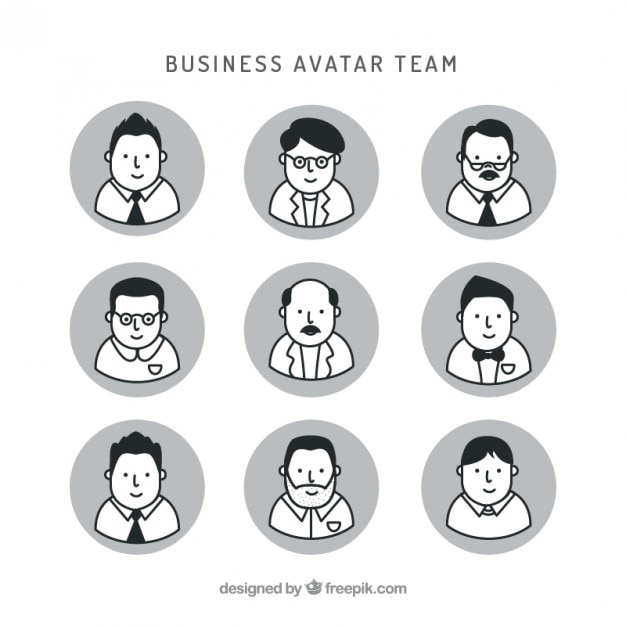 Download Vector - Nice avatars business people in flat