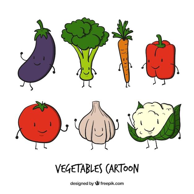 دست کشیده سبزیجات خوب شخصیت
