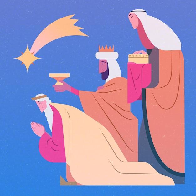 Рисованной из трех мудрецов Бесплатные векторы