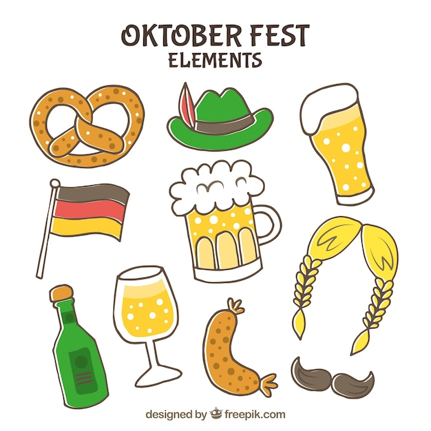 Hand drawn oktoberfest complements