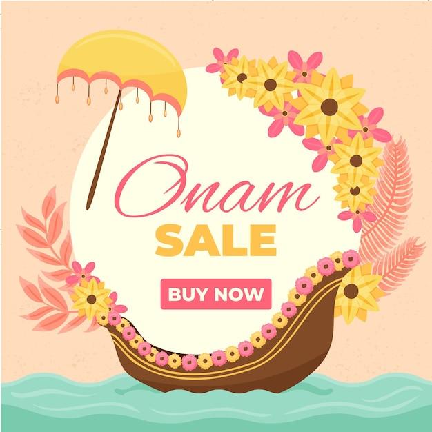 Hand drawn onam sales Free Vector