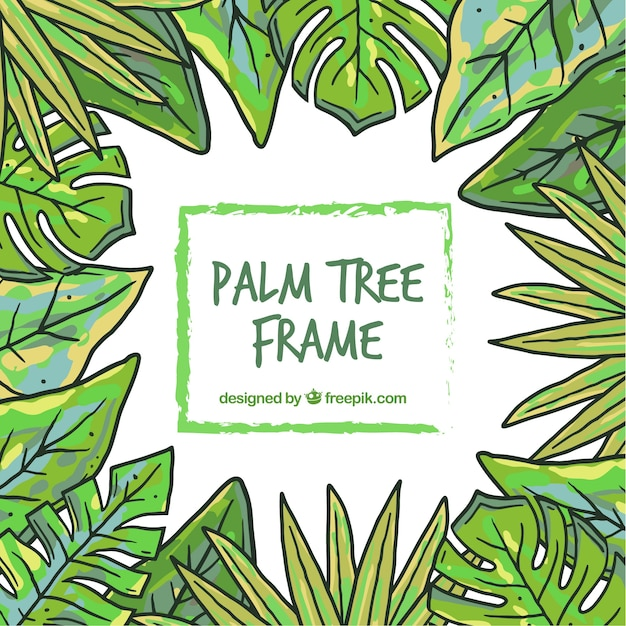 Free Vector Hand Drawn Palm Leaves Frame We provide for you easy access to free. free vector hand drawn palm leaves frame