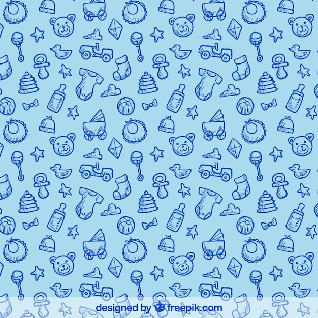 Hand Drawn Pattern With Baby Elements Stock Images Page Everypixel Classy Baby Pattern