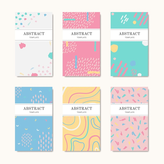 Hand drawn patterned name cards Free Vector