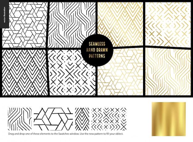 Hand drawn patterns Premium Vector