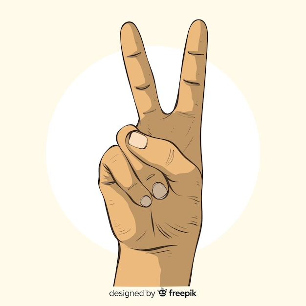 free vector hand drawn peace sign hand free vector hand drawn peace sign hand