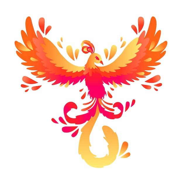 Hand drawn phoenix concept Free Vector