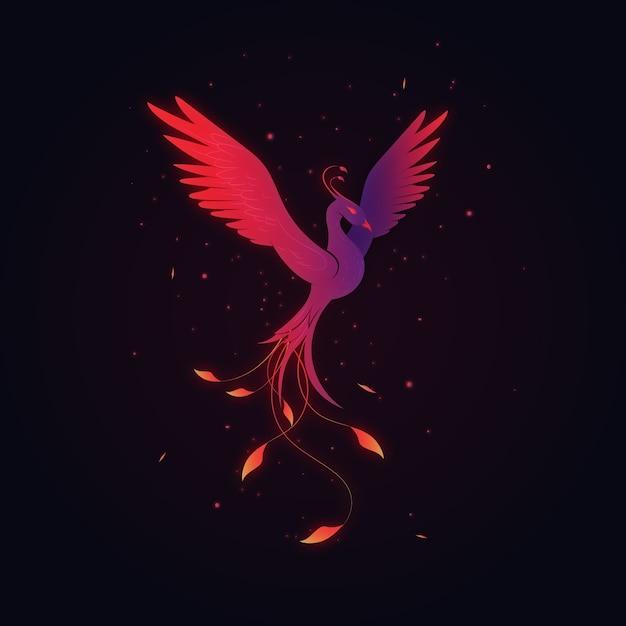 Hand drawn phoenix Free Vector