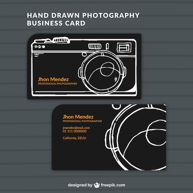 Hand drawn photo studio card