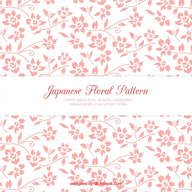 Hand drawn pink flowers pattern Free Vector
