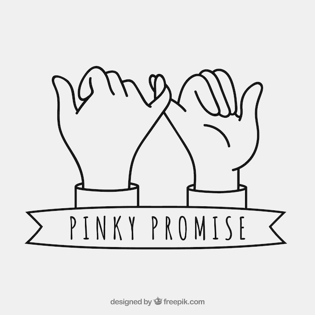 hand drawn pinky promise composition vector free download