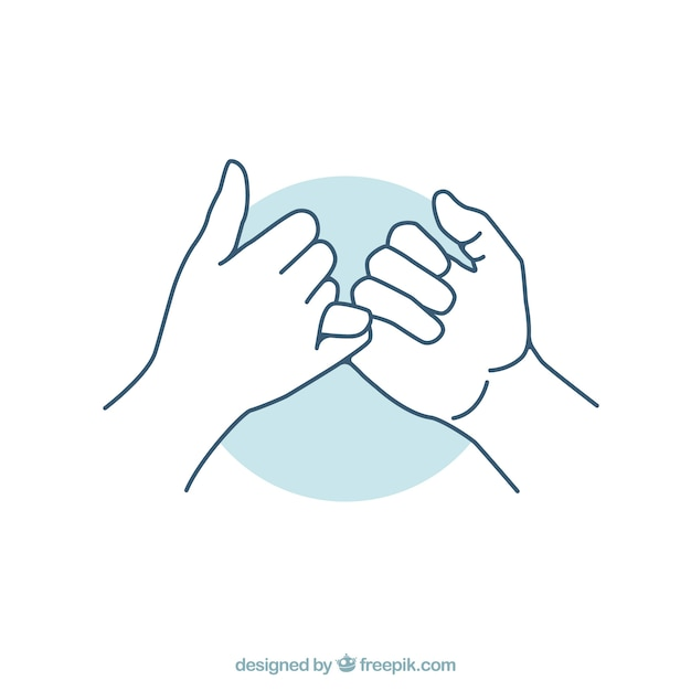 Hand drawn pinky promise concept Free Vector