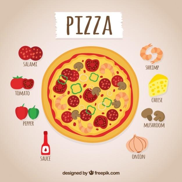 دست کشیده دستور العمل پیتزا