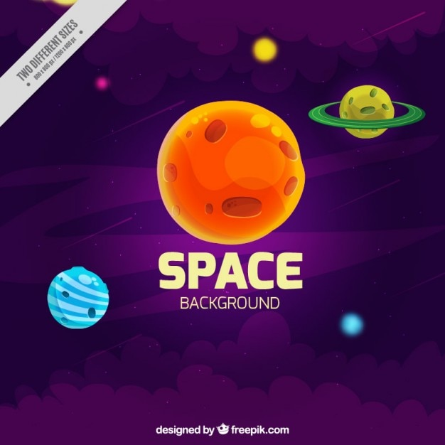 Hand drawn planets background Free Vector