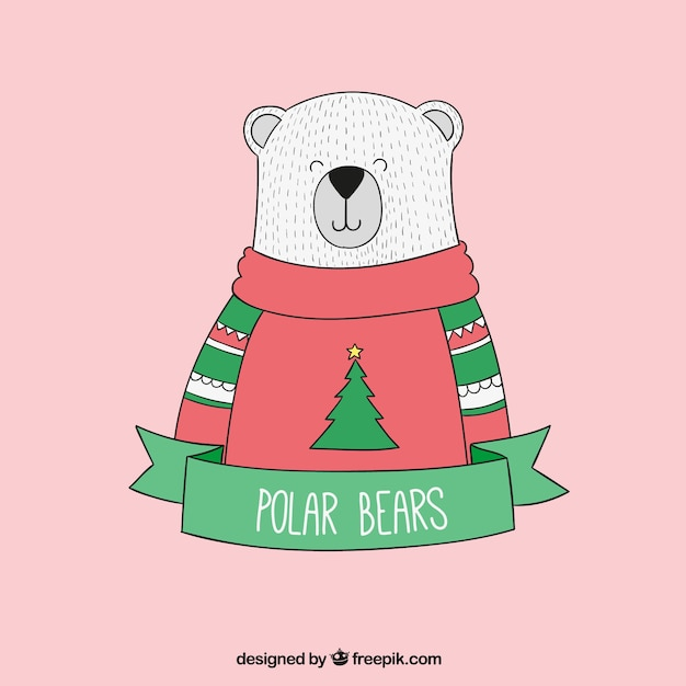 Hand Drawn Polar Bear Vector Free Download