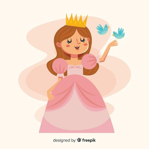 Ручной обращается принцесса фон Premium векторы