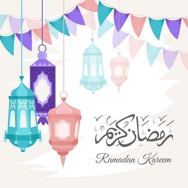 Нарисованная от руки иллюстрация рамадана карима Бесплатные векторы