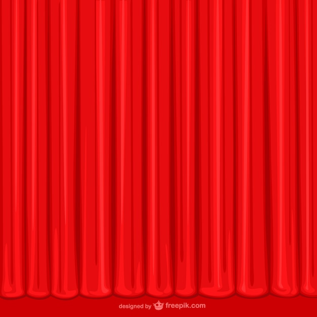 Hand Drawn Red Curtain Free Vector