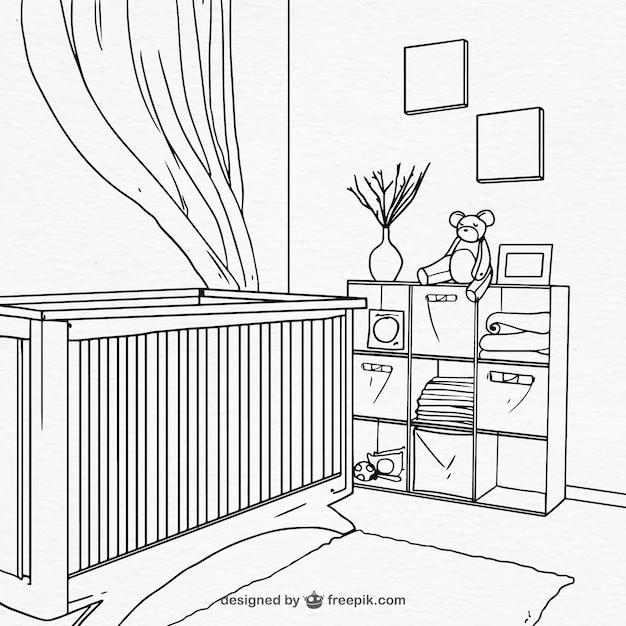 Hand-drawn Room For Baby Vector