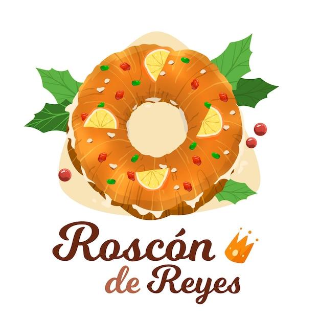 Roscón de reyes disegnato a mano Vettore gratuito