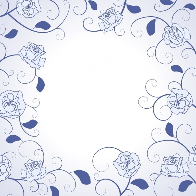Hand drawn roses frame Free Vector
