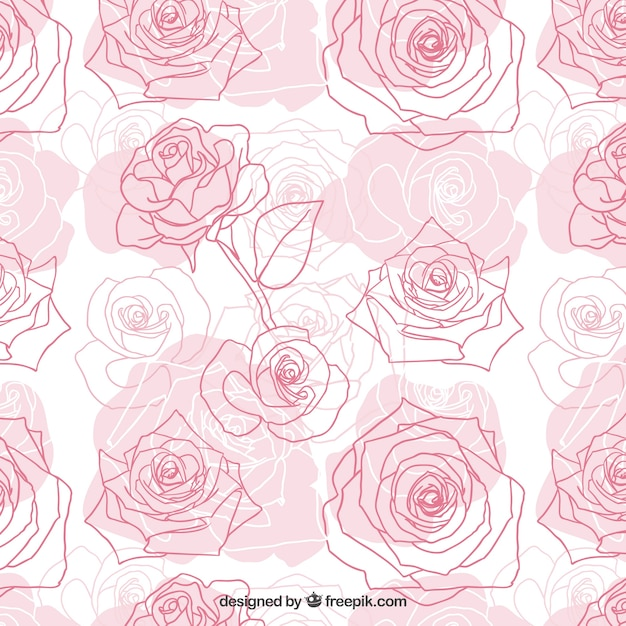 Hand Drawn Roses Pattern Stock Images Page Everypixel