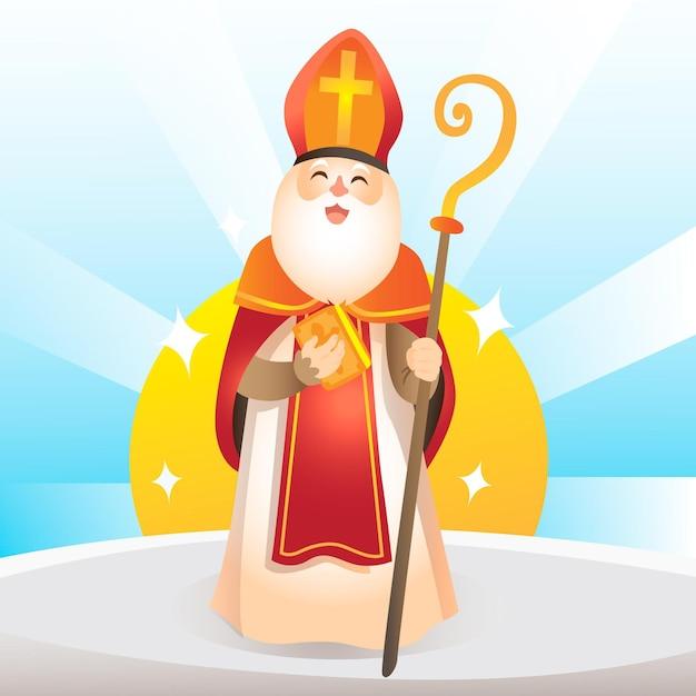 手描きの聖ニコラスの日 無料ベクター