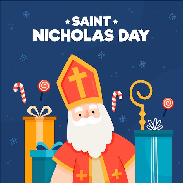 Hand drawn saint nicholas day Premium Vector