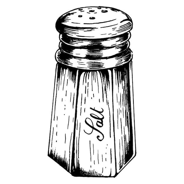 Hand drawn salt shaker Premium Vector