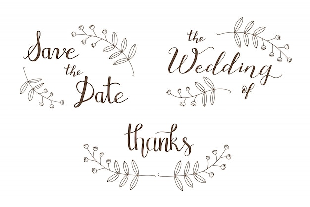 Hand drawn save the date Premium Vector