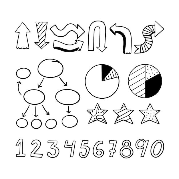 手描きの学校のインフォグラフィック要素 無料ベクター