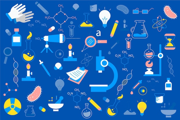 Hand drawn science background Free Vector