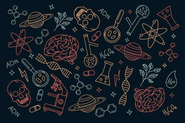 Ручной обращается наука фон Бесплатные векторы