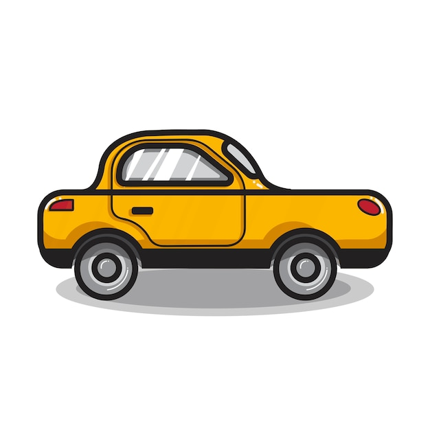 Hand drawn sedan car illustration Free Vector