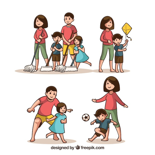 Family Activities: Boy Cleaning Vectors, Photos And PSD Files
