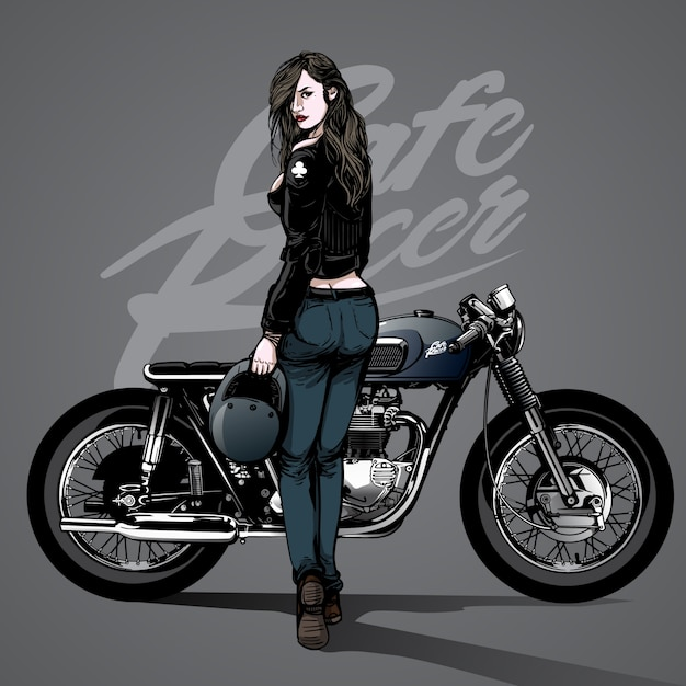 Motorcycle Vectors Photos And PSD Files Free Download - Car sticker decal for girlsgirl motorcycle promotionshop for promotional girl motorcycle on