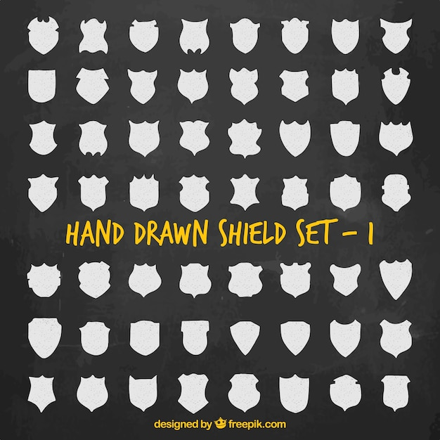 Hand Drawn Shield Hand Drawn Shields