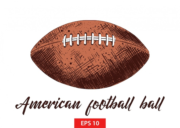 Premium Vector Hand Drawn Sketch Of American Football Ball