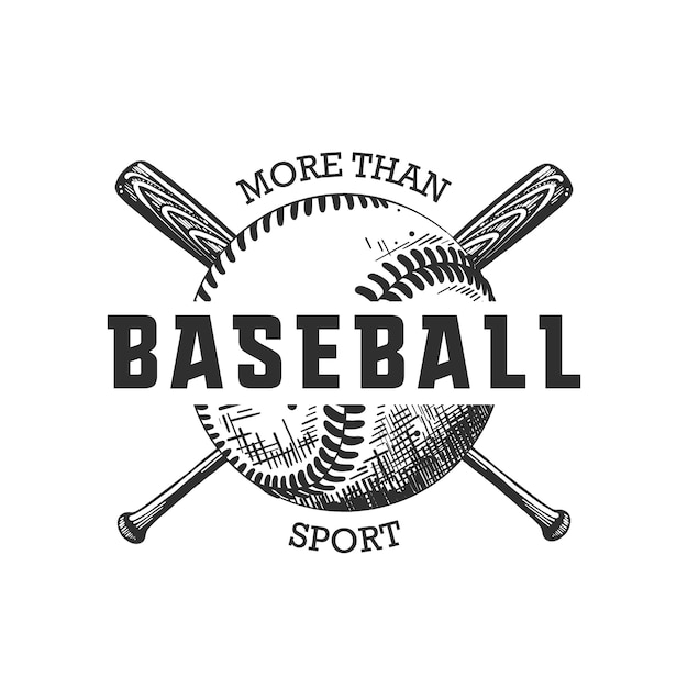 Hand drawn sketch of ball and bat with motivation Premium Vector