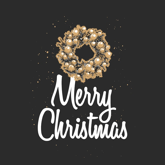 Hand drawn sketch christmas and new year holiday Premium Vector