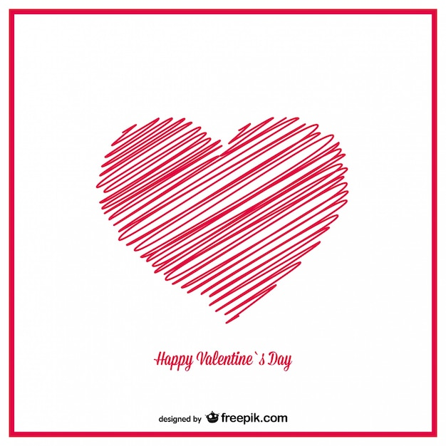 HandDrawn Sketch Hearts Valentines Card Design Vector – Valentines Card Photos