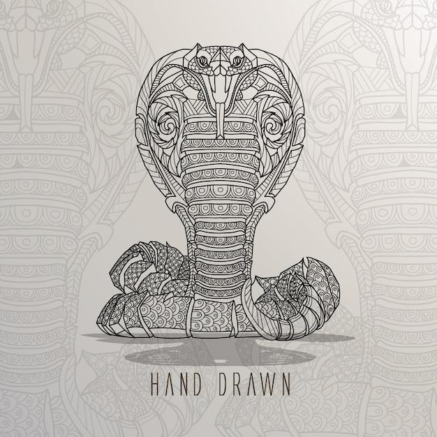 Serpente a mano disegnato Vettore gratuito
