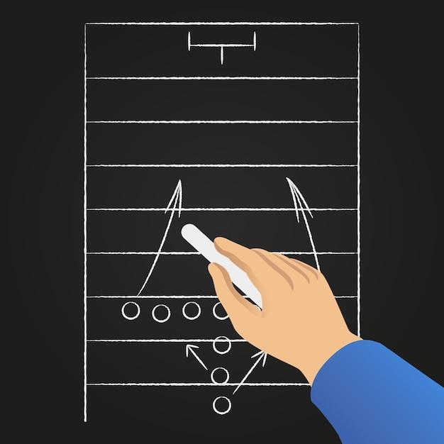Strategia di gioco di calcio disegnato a mano. Vettore gratuito