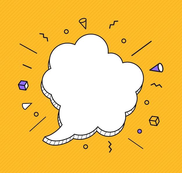 Hand drawn speech bubbles icon. Premium Vector