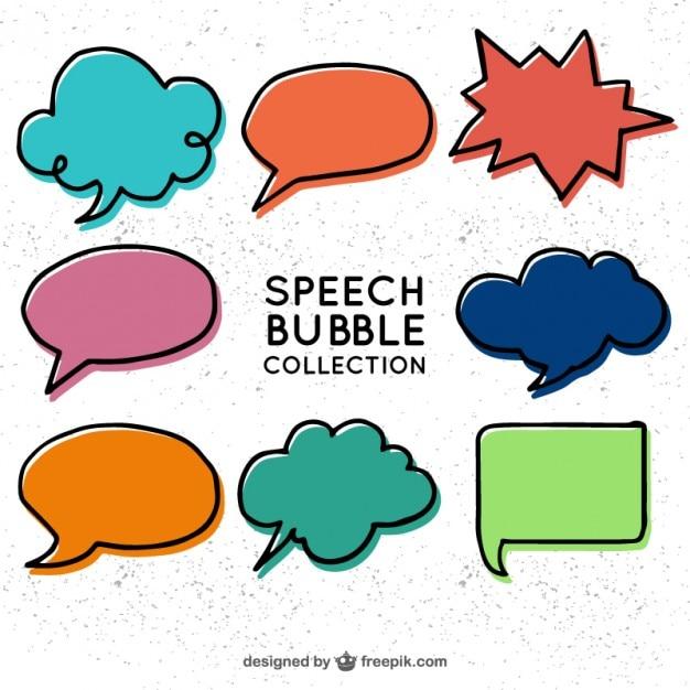 دست کشیده حباب سخنرانی در سبک کمیک
