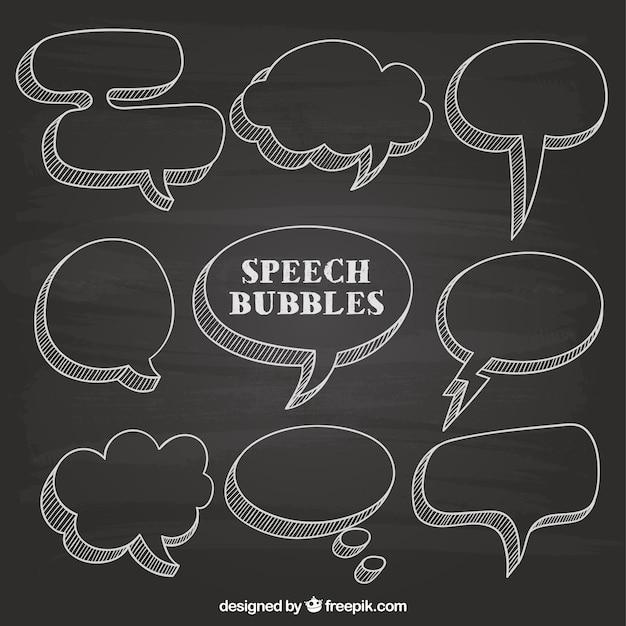 دست سخنرانی کشیده حباب روی تخته سیاه